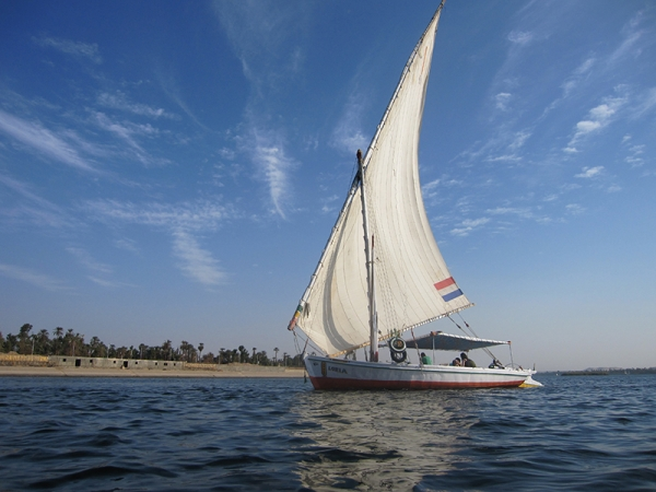 Felucca Ride on the surface of the Nile River in Luxor