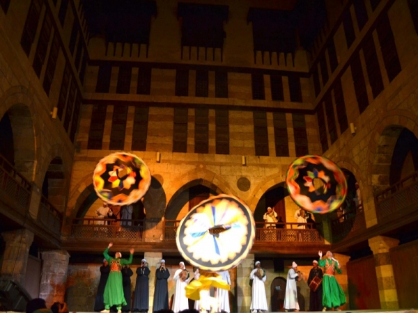 Tour to Al Tanoura Egyptian Heritage Dance Troupe Show at Wekalet El Ghoury